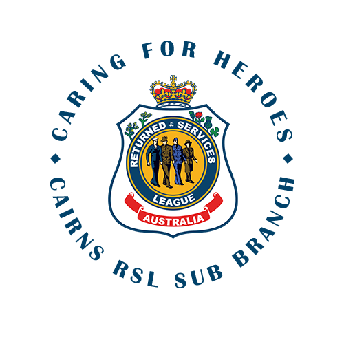 Cairns Returned and Services League Sub Branch Providing welfare and support to Veterans logo